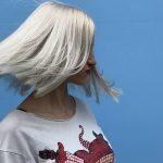 white blonde hair